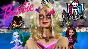 zombie barbie makeup tutorial barbie styling head makeover monster high dolls walking dead you