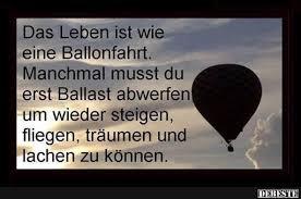 Das Leben Ist Wie Eine Ballonfahrt Debestede Lustige Bilder