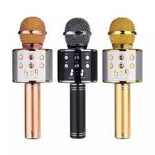 Mic Hát Karaoke Bluetooth Không Dây(WS-858)- Kèm loa Âm vang Ấm mic hát karaoke  cầm tay mini micro hát trên xe hơi mic hát karaoke hay nhất hiện nay