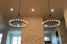 living room chandelier installation update