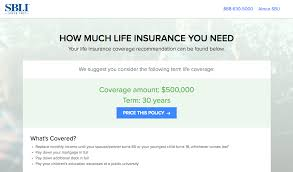 Life Insurance Quotes Calculator Term Life Insurance Online Calculator Tool SBLI 53