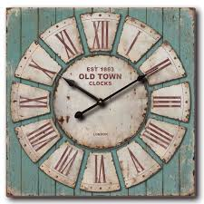 oversized 30 rustic blue pallet wall clock 30 d x 2 75 d free today 18713540