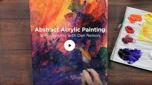 painting with soho acrylics abstract