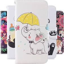 Us 2 0 20 Off For Lg Stylo 4 Lovely Cartoon Covers For Lg 4 Elephant Painted Protective Mobile Cover For Lg Stylo 4 Leather Flip Phone Cases In Flip