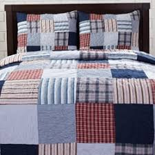 Bradley Red/ Blue Patch 3-piece Quilt Set - Free Shipping Today ... & Bradley Red/ Blue Patch 3-piece Quilt Set - Free Shipping Today -  Overstock.com - 13278647 Adamdwight.com