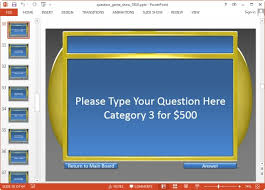 Gameshow Templates Jeopardy Game Templates For Powerpoint