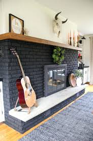 painted brick fireplace our black painted fireplace black brick fireplace black fireplace light grey painted brick