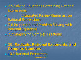 7 5 solving equations containing rational expressions