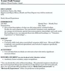Write Resum How To Make A College Resume As How To Make Resume Amazing How To Make A Resume For College