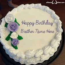 Birthday Images For Brother With Name And Photo Floweryred2com