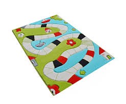 3d children s playway turquoise play rug 100 x 150 cm