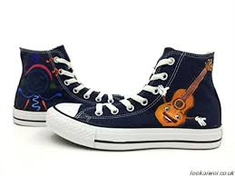 converse shoes navy blue. acoustic guitar hand painted unisex all star converse shoes navy blue high top chuck taylor canvas - 95dtgykjc