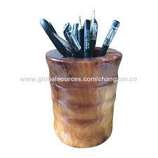 office pen holder. Natural Wooden Root Pen Holder China Office 0
