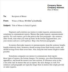 Sample Of Memorandum Letter Free 7 Company Memo Templates In Google Docs Ms Word