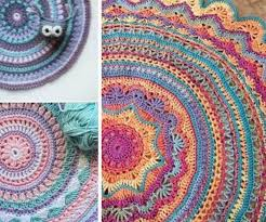 pattern idea crochet mandala rug pattern artistic diy ideas video tutorial