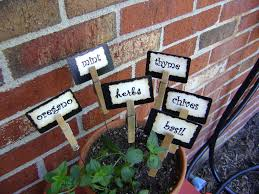 garden labels. Shabby Garden Creations Super Cute Plant Markers Labels