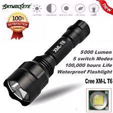 5000Lm C8 XM L T6 LED 18650 El Feneri 5 Modu Meşale Taktik Işık Lambası LED  Torch El Feneri Latarka El Linterna Lanterna Luckorigins.news