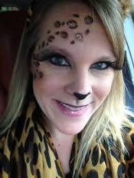 transfer sticker makeup leopard face paint leopard print