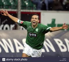 Dpa Wolfsburg Forward Martin Petrov Celebrates After
