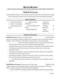 Example Resume Objective Simple HVAC Technician Resume Sample Monster