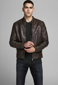 leather jacket brown stone