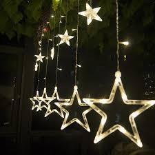 Đèn led ngôi sao nhấp nháy trang trí rèm cửa hiên nhà tại Hà Nội