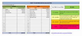 credit card payoff calculator excel debt to income ratio calculator excel templates