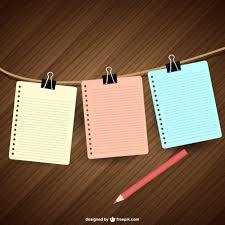 Notebook Papers Hanging Vector Free Download