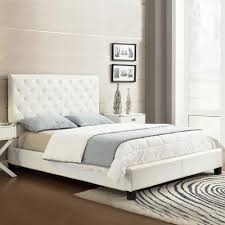 white upholstered beds. HomeSullivan Toulouse White Full Upholstered Bed Beds The Home Depot