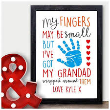 personalised my fingers may be small wrapped around grandad birthday fathers day gifts for him grandpa pops grandfather personalised with