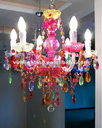 multi colored crystal chandelier color decorative 6 colorful lighting on milano