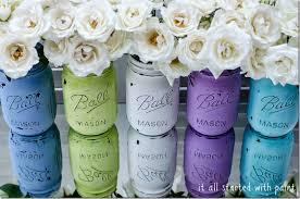 mason jars painted distressed 10