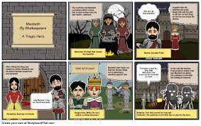 macbeth a tragic hero storyboard by mountie