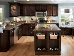Kitchen Cabinet Espresso Color Norwich Slab Echelon Cabinets