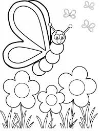Spring Coloring Pages For Toddlers Phenomenal Free Kindergarten