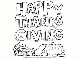 Happy Thanksgiving Printables With For Kids Coloring Pages 2018