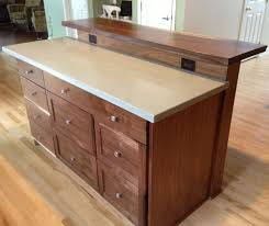 Kitchen Bar Top Custom Kitchen Island With Slab Bar Top By Saw Tooth Designs Llc