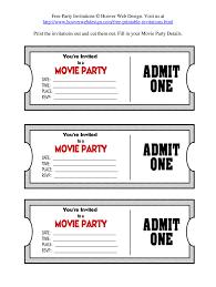 040 Printable Movie Ticket Template Ideas Remarkable Cinema