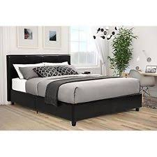 queen size bed with mattress included.  Queen Upholstered Bed Queen Faux Leather Headboard Frame Modern Bedroom Furniture  New Intended Size With Mattress Included T