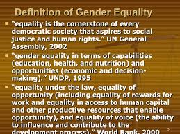 gender inequality development  5 definition of gender