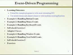 Event Programs Event Driven Programming Ppt Video Online Download