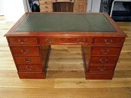 leather top desk leather top desk in 4 sizes bureau 4 decorations leather top desk uk