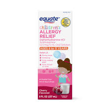 Dimetapp Cold And Allergy Dosage Chart By Weight Equate Childrens Allergy Oral Solution Cherry 8 Fl Oz