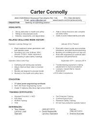 Chemical Operator Resume Chemical Plant Operator Resume Template Plant Operator Resume
