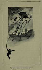 the very first illustrations of h g wells the war of the worlds  hg wells 2