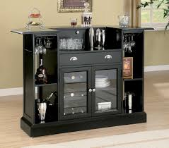 Image Base Shown With Stemware Storage Black Bar Table With Wine Rack See More Picture Houzz Galenos Black Bar Table With Wine Rack