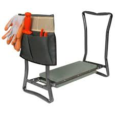 foldable garden kneeler seat with pouch