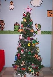 Super Mario Tree  Geeked Out Christmas Trees  Pinterest  Mario Super Mario Christmas Tree