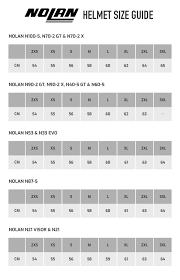 Nolan N104 Size Chart 80 Accurate Nolan Helmet Size Chart