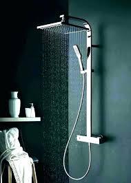 shower heads delta dual shower head fixture double heads home depot